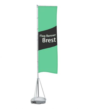 Flag Banner Brest. Banderola Publicitaria de gran formato con base rellenable de agua