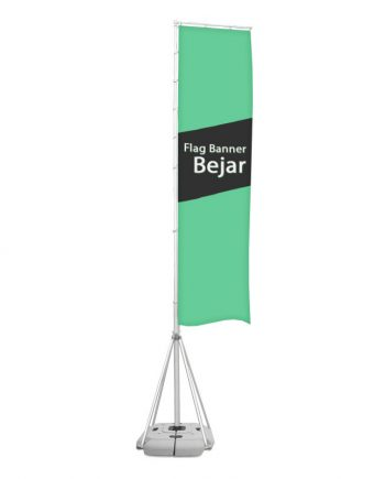 Flag Banner Bejar - Banderola Publicitaria con Base Rellenable