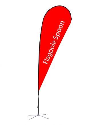 Banderola Publicitaria Spoon. Banderola tipo gota económica.